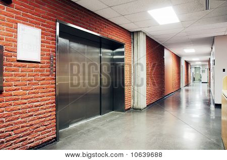 One Large Steel Door Elevator