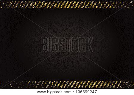 Grunge Background With Caution Stripes