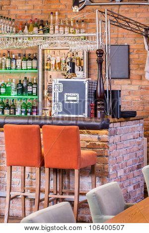 Brick Walls In Industrial Bar