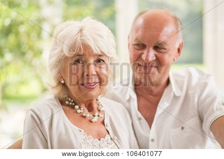 Senior Man Looking At Wife