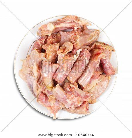 Rohem frisches Hühnerfleisch Hals