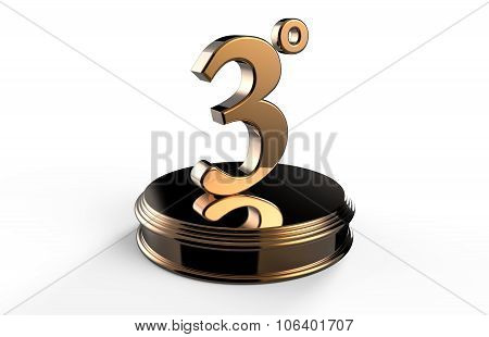 Bronze Number 3 On Podium