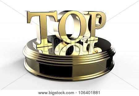 Gold Top On Podium