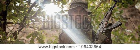 Warrior In Forest