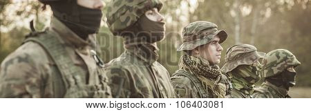 Soldiers And Morning Drill