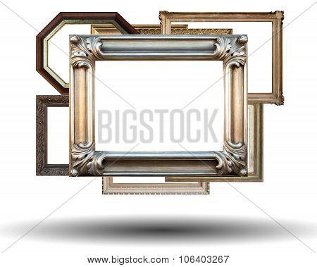 Many Frames Isolated On White