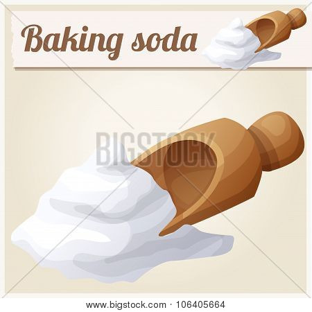 Baking soda. Detailed Vector Icon