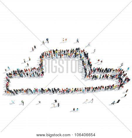 group  people  pedestal
