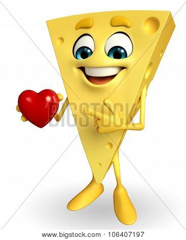 Cheese Character With Heart