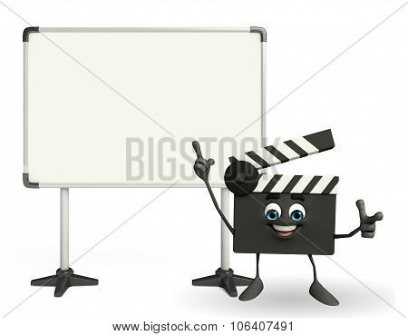 Clapper Board Character With Display Board