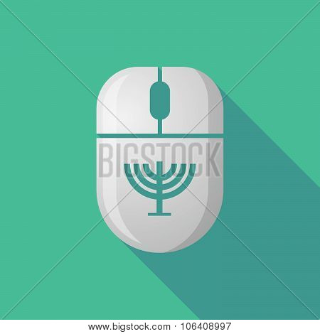 Wireless Long Shadow Mouse Icon With A Chandelier