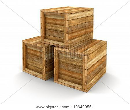 Wooden crate (clipping path included)