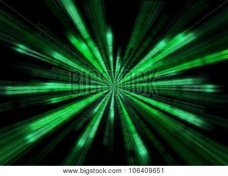 Matrix Background In The Form Of Star Burst