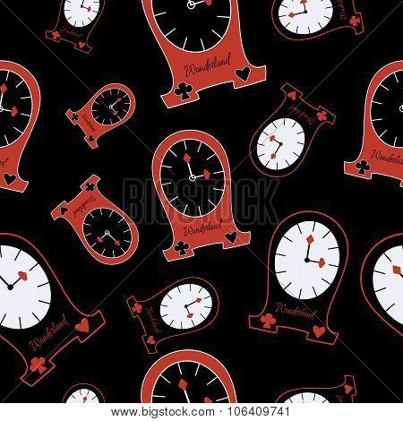 Seamless Alice Clocks From Wonderland