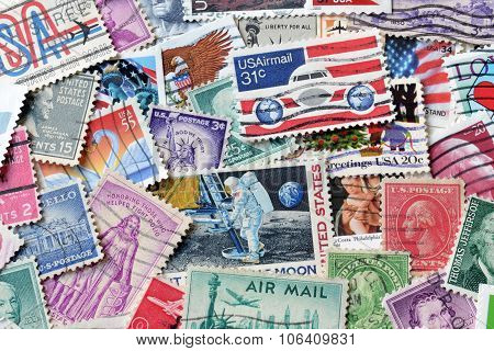 USA on stamps