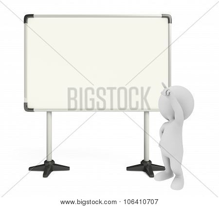 White Character With Display Board