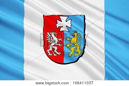Flag Of Podkarpackie Voivodeship In Extreme-southeastern Poland