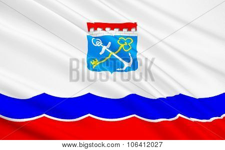 Flag Of Leningrad Oblast, Russian Federation