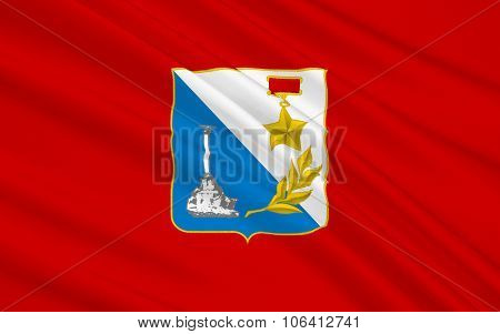 Flag Of The City In The Southwest Of The Crimean Peninsula On The Black Sea Coast - Sevastopol