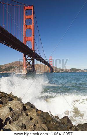 The Golden Gate Bridge W The Waves