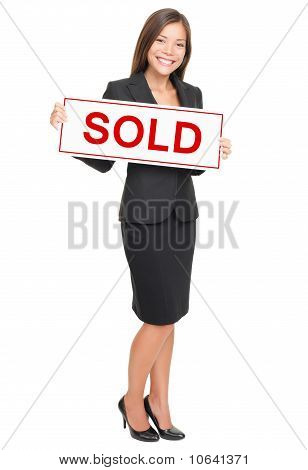 Real Estate Agent Isolated On White Background