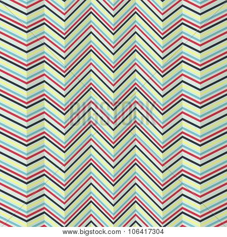 Zigzag Jagged Pattern On Bright Background