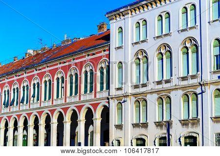 Split, Croatia - January 1: Arcitecture In Old Part Of Split, In Croatia On January 1, 2012.