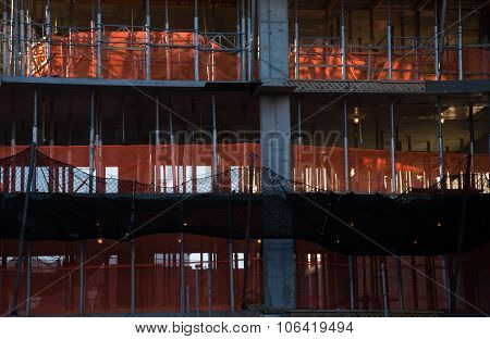 Safety Net At Construction Site