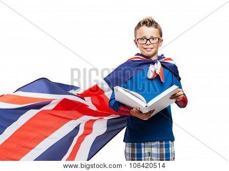 Superhero Reading A Book