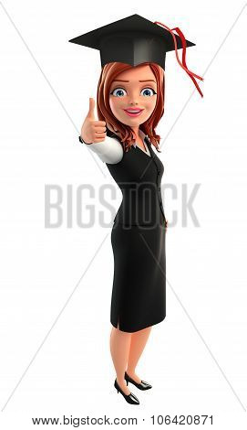 Young Business Woman With Graduate Hat