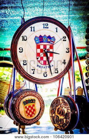 Metkovic, Croatia - July 20: Souvenirs With Croatian Simbols On Sale At The Fair In Metkovic, Croati
