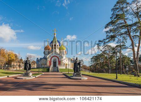 The Church Of The Holy Igor Of Chernigov In Novo-peredelkino.