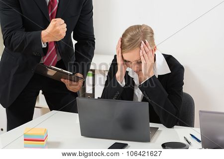 Boss Blaming An Employee For Bad Results
