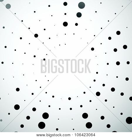 Dotted abstract graphic.