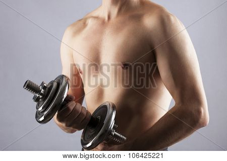 young man in gym