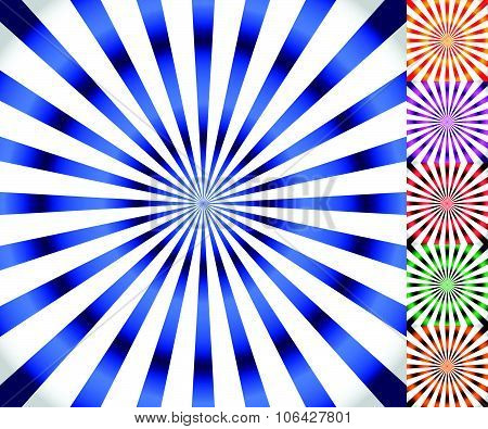 Starburst, Sunburst Background. Radiating, Converging Lines Vector.