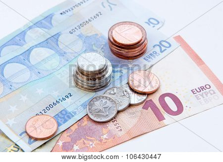 European Coins And Euro Notes