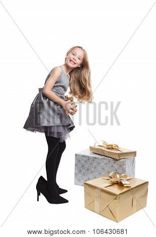 Pretty Little Girl In High Heels