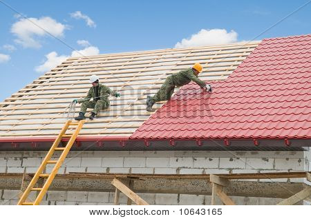 Roofing Work With Metal Tile