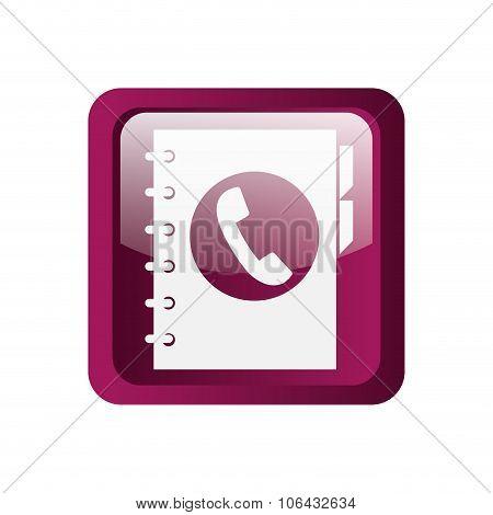 Phonebook icon symbol design
