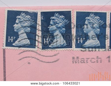 London, United Kingdom - May 23, 2015: Stamps Printed By United
