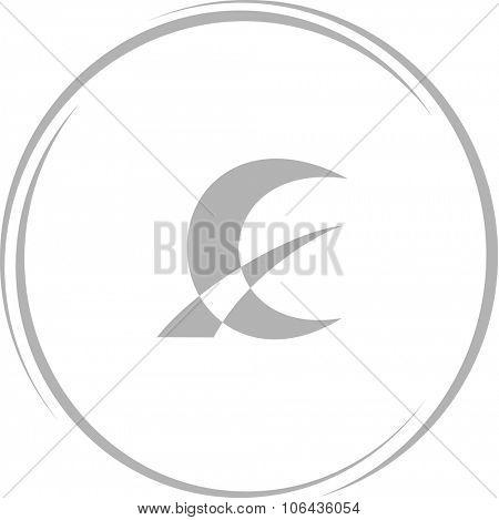 monetary sign. Internet button. Vector icon.