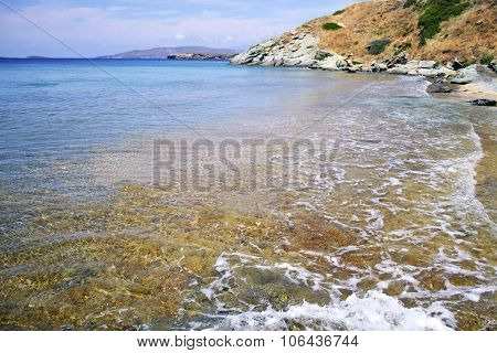 beach in Andros island Greece