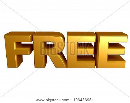 Free Golden Text Sign