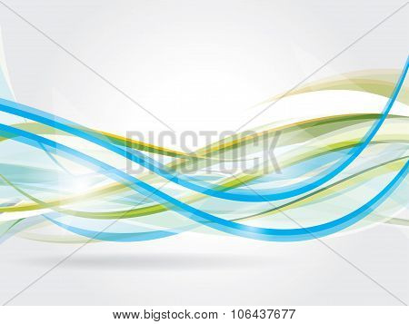 Vector abstract background with waves and lines