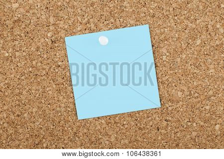 Empty Blank Adhesive Note Paper On Bulletin Board
