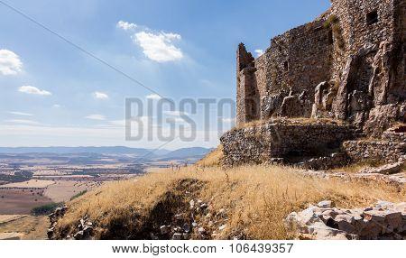 Castle And Convent Of Calatrava La Nueva In Spain