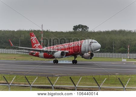 Asian Express Airline Landing At Phuket Airport
