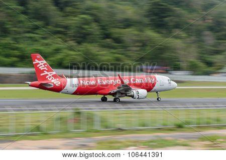 Airasia Airline Landing At Phuket Airport