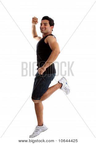 Homem ativo energético